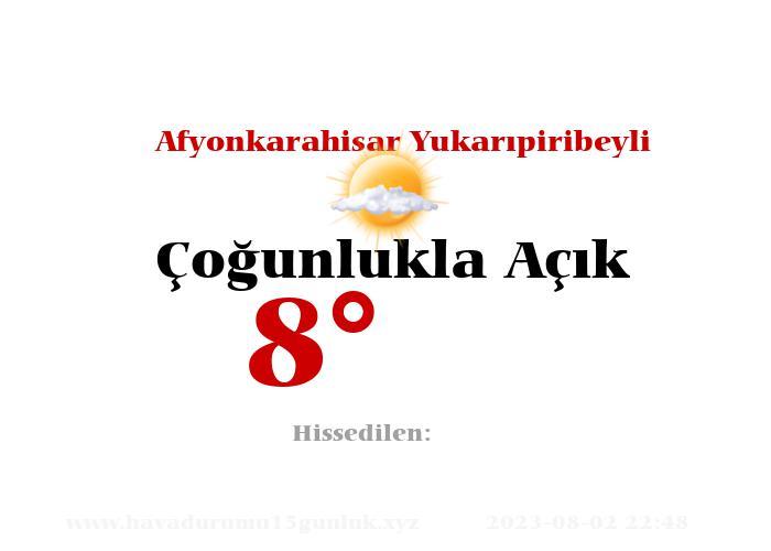 afyonkarahisar-yukaripiribeyli hava durumu