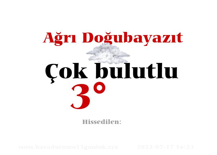 agri-dogubayazit hava durumu