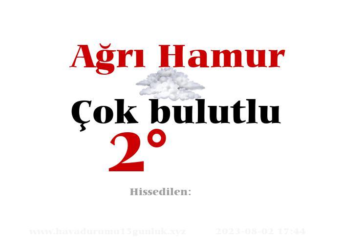 agri-hamur hava durumu