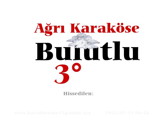 agri-karakose hava durumu