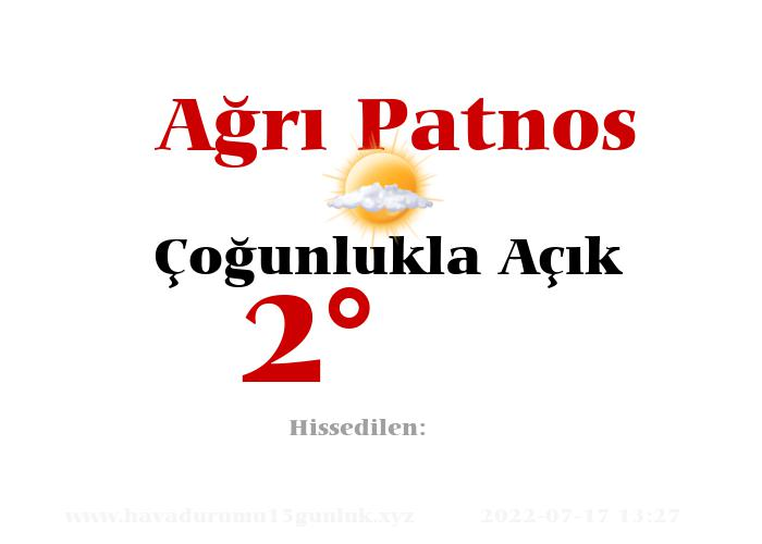 agri-patnos hava durumu