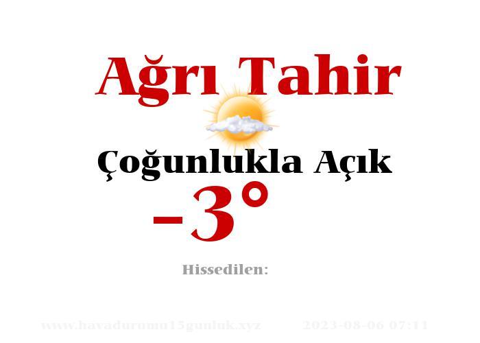 agri-tahir hava durumu