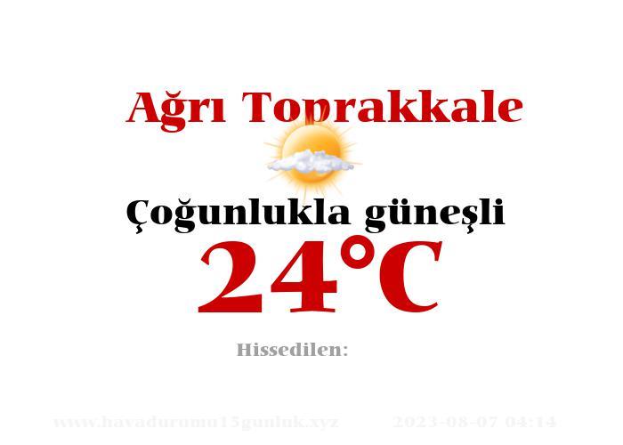 Hava Durumu Ağrı Toprakkale
