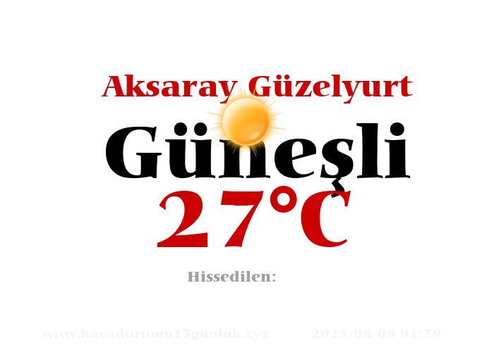 Hava Durumu Aksaray Güzelyurt