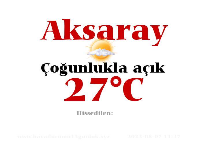Hava Durumu Aksaray