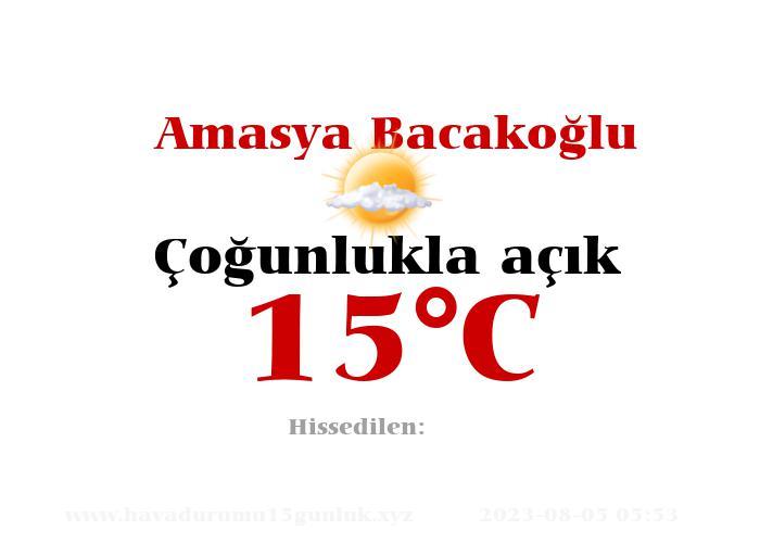 Hava Durumu Amasya Bacakoğlu