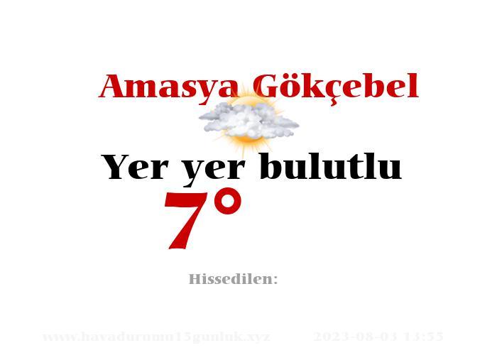 amasya-gokcebel hava durumu