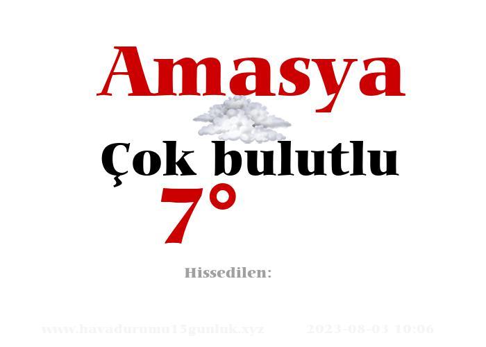 Amasya Hava Durumu