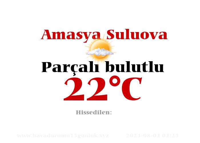 Hava Durumu Amasya Suluova