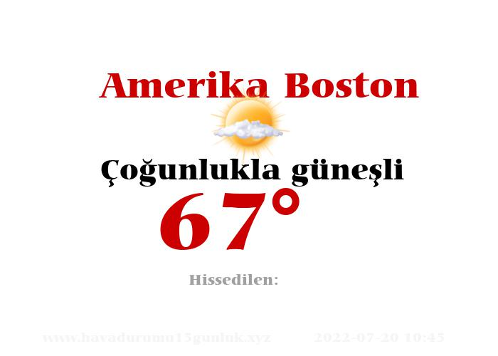 amerika-boston hava durumu