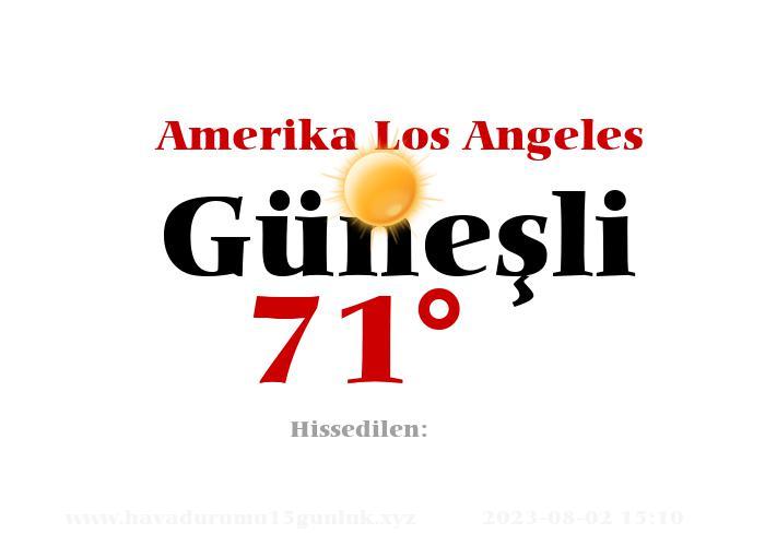 amerika-los-angeles hava durumu