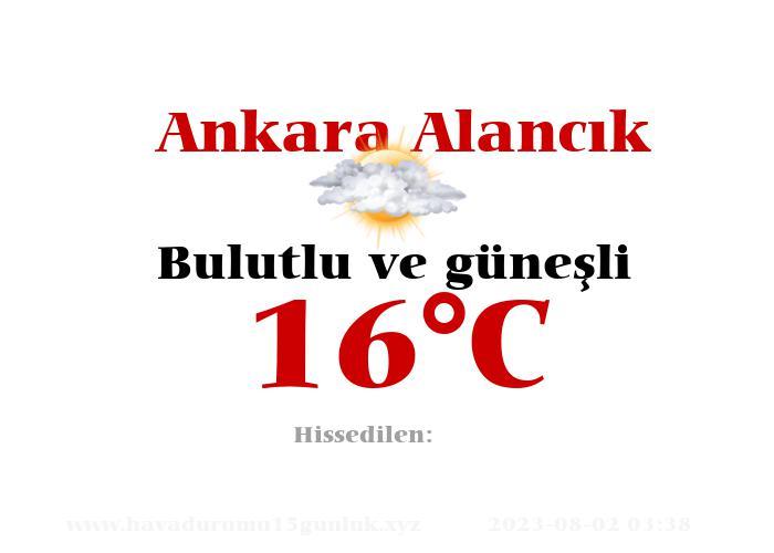 Hava Durumu Ankara Alancık