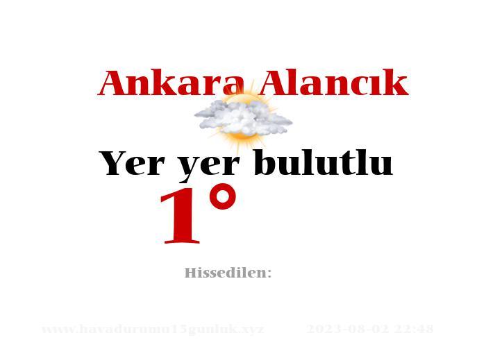 Ankara Alancık Hava Durumu