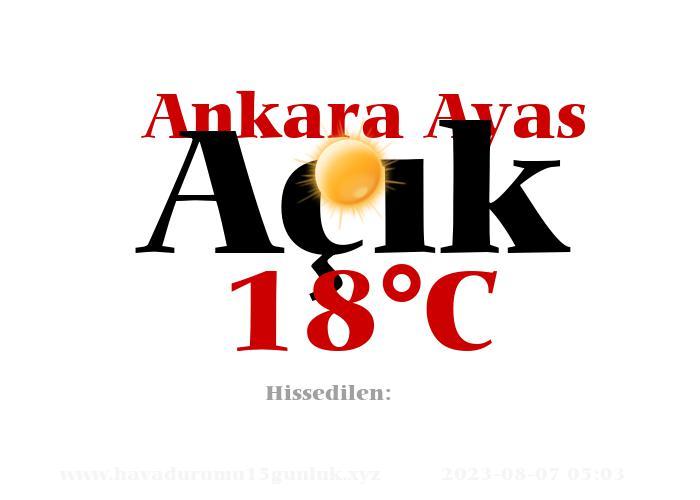 Hava Durumu Ankara Ayas
