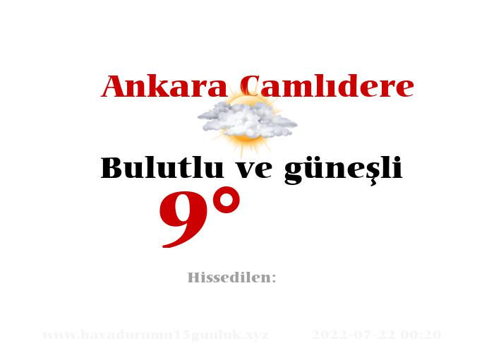 ankara-camlidere hava durumu