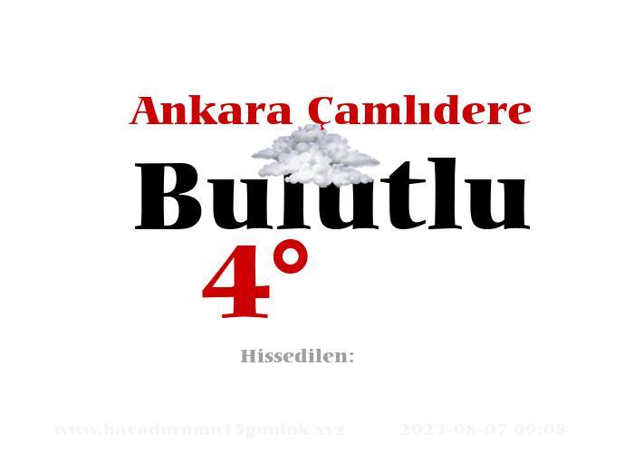 Ankara Çamlıdere Hava Durumu