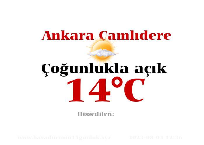Hava Durumu Ankara Çamlıdere