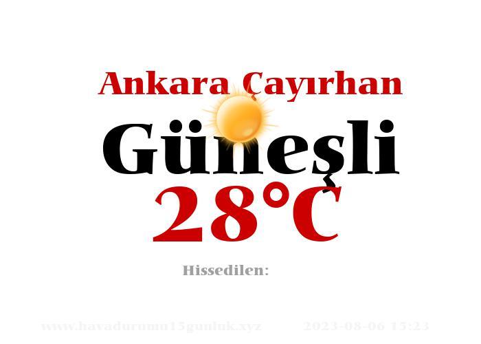 Hava Durumu Ankara Çayırhan