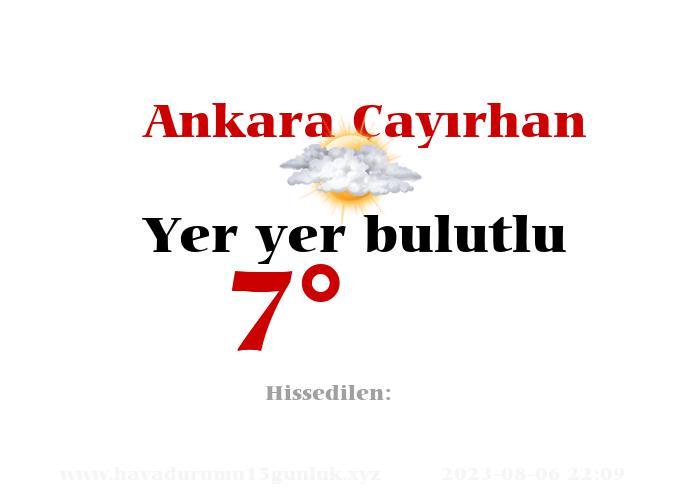 Ankara Çayırhan Hava Durumu