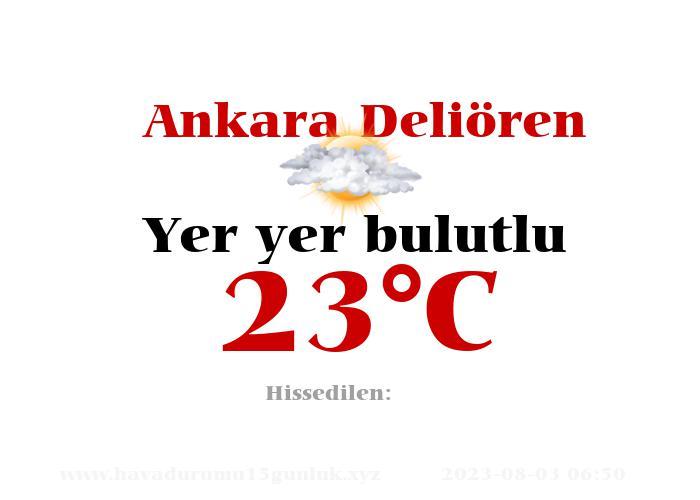 Hava Durumu Ankara Deliören