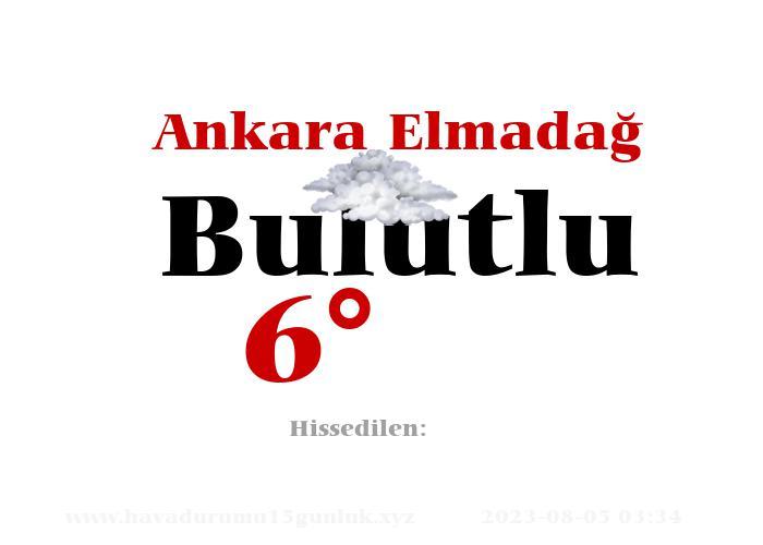 Ankara Elmadağ Hava Durumu