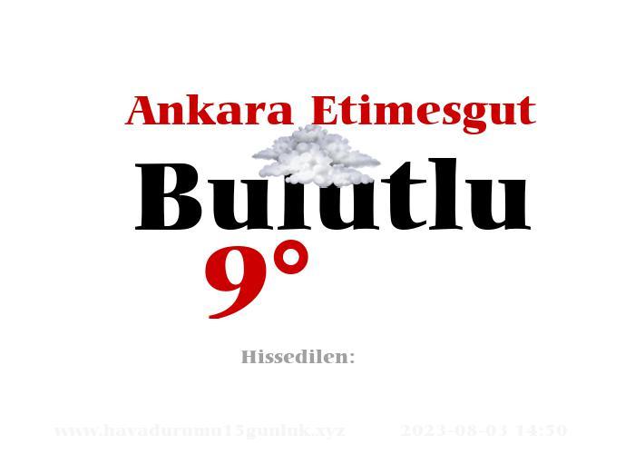 Ankara Etimesgut Hava Durumu