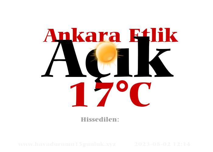 Hava Durumu Ankara Etlik