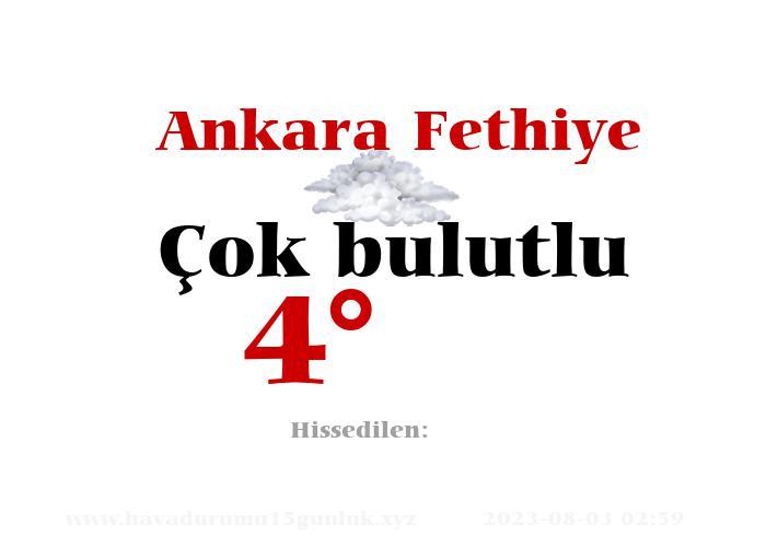 Ankara Fethiye Hava Durumu