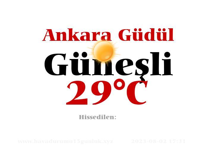 Hava Durumu Ankara Güdül