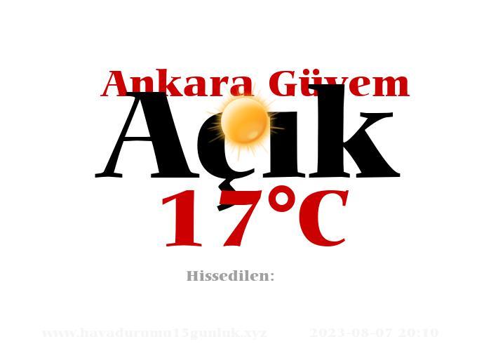 Hava Durumu Ankara Güvem