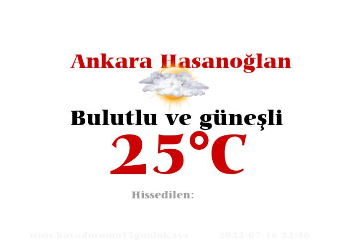 Hava Durumu Ankara Hasanoğlan
