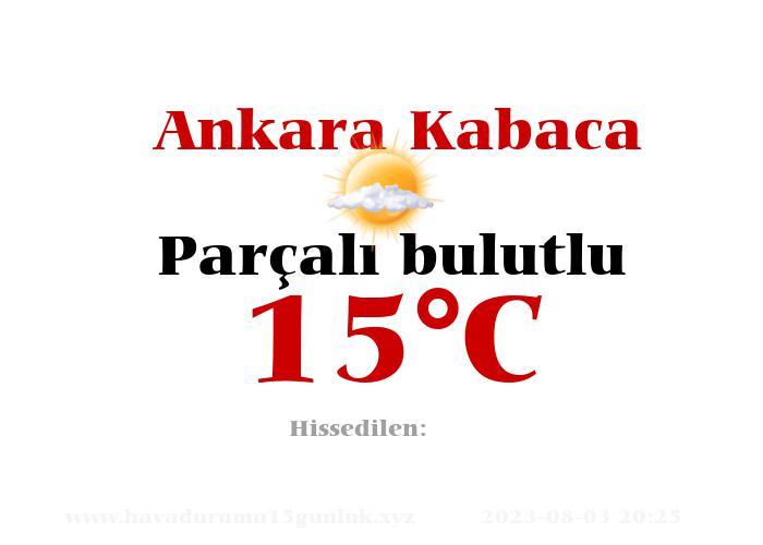 Hava Durumu Ankara Kabaca