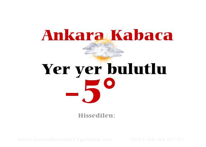 ankara-kabaca hava durumu