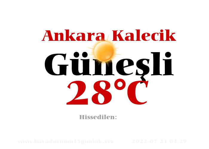 Hava Durumu Ankara Kalecik