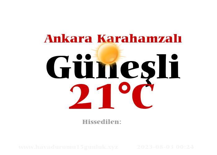 Hava Durumu Ankara Karahamzalı