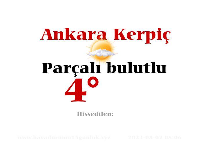 Ankara Kerpiç Hava Durumu