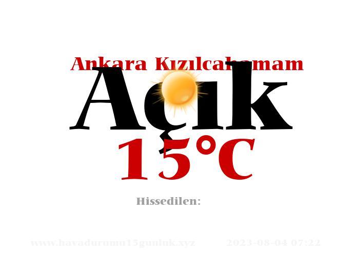 Hava Durumu Ankara Kızılcahamam