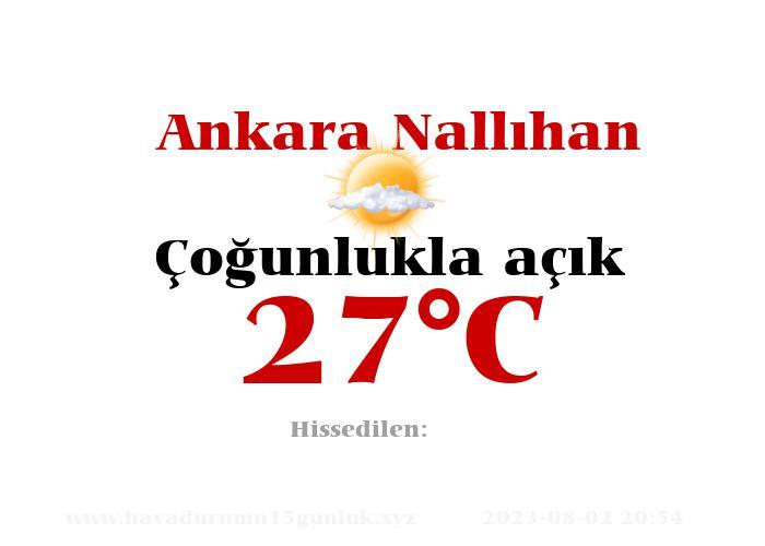 Hava Durumu Ankara Nallıhan