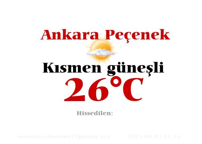 Hava Durumu Ankara Peçenek