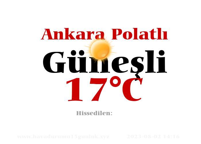 Hava Durumu Ankara Polatlı