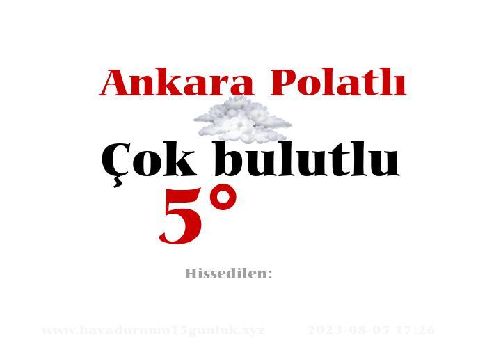 Ankara Polatlı Hava Durumu