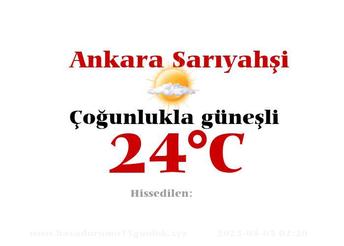 Hava Durumu Ankara Sarıyahşi
