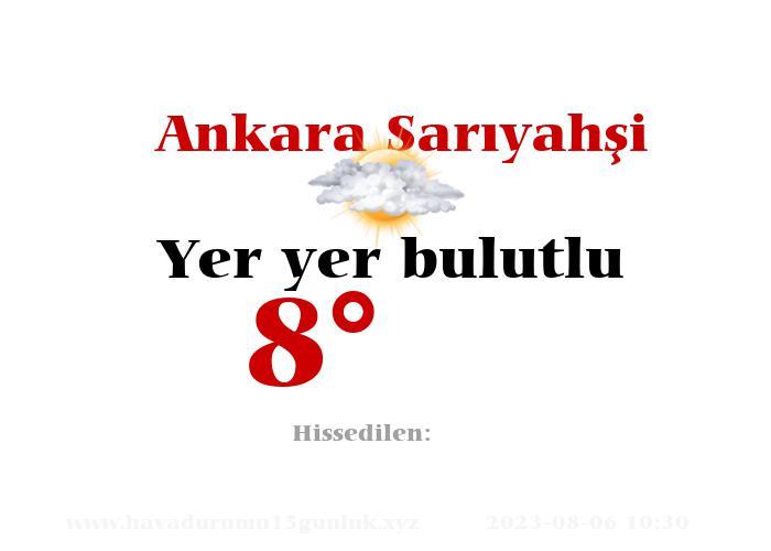 Ankara Sarıyahşi Hava Durumu