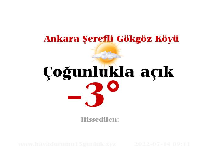 ankara-serefli-gokgoz-koyu hava durumu