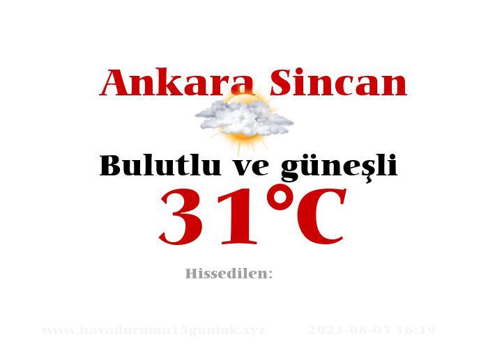 Hava Durumu Ankara Sincan