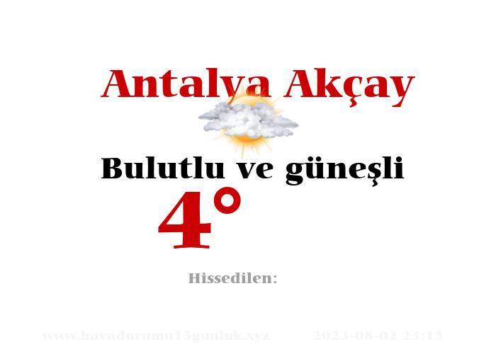 antalya-akcay hava durumu