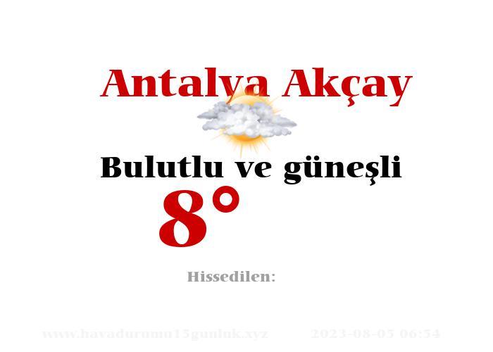 Antalya Akçay Hava Durumu