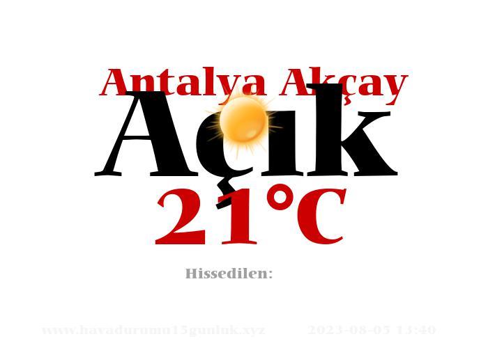 Hava Durumu Antalya Akçay