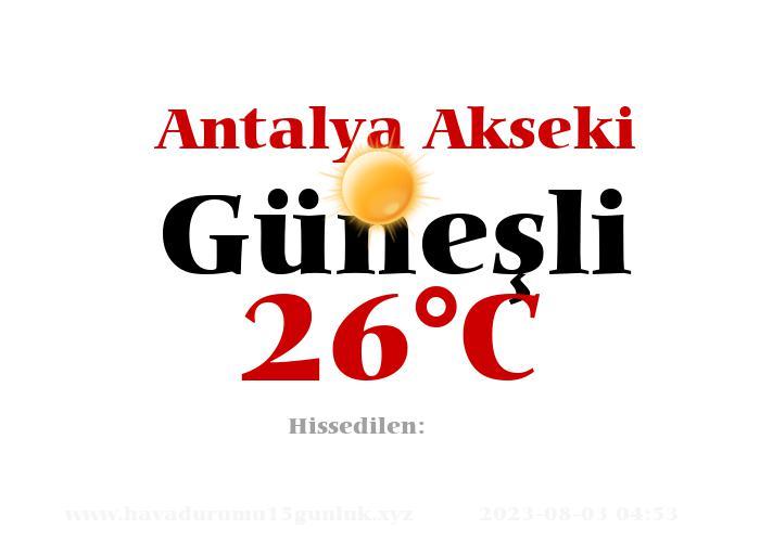 Hava Durumu Antalya Akseki