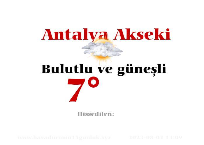 antalya-akseki hava durumu